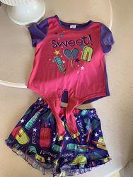 Пижама мороженое шорты Childrens Place, sp, 5-6 лет