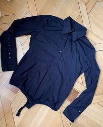 Черная рубашка комбидресс dept XL-XXL воротник
