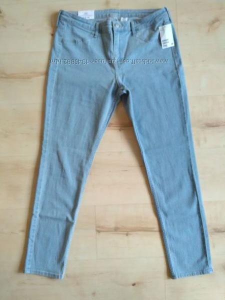 Новые нежно голубые джинсы скини h&m 30 размер