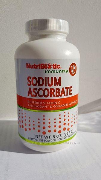 NutriBiotic, Immunity, аскорбат натрия, кристаллический порошок, 227 г