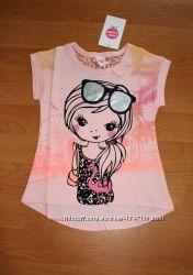 Хлопковая нарядная футболка для девочки, Венгрия