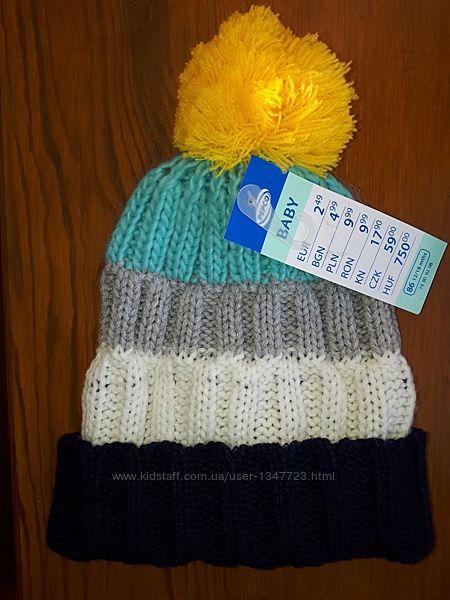 Теплая шапка Pepco на 1-2 года новая
