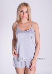 Пижама женская из шелка однотонная П08х Любой цвет