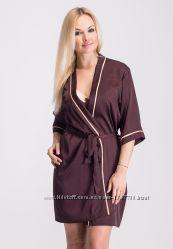 Женский халат шелковый Х020н.