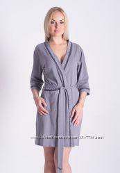 Домашний женский халат из натурального хлопка Х116