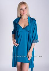 Комплект женский ночная рубашка и халат К029н