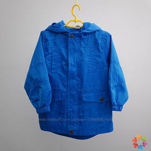 Куртка парка демисезонная для мальчика на флисе pepco