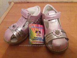 цена ниже опта нарядные кожаные ортопедические туфли Шалунишка