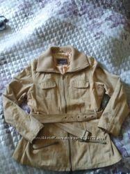 красивая замшевая куртка с поясом