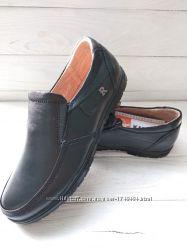 Туфли Kangfu C1033 кожа черные 31-36