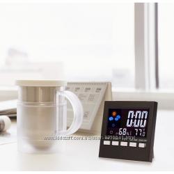 Часы метеостанция 2159Tбудильник, термометр, гигрометр