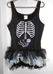 Туника на маскарад скелет Хеллоуин