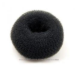 Бублик валик пончик большой для волос 10 см черный