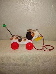 Каталка Собачка Fisher-Price Little Snoopy винтаж