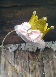 корона глиттер обруч ободок повязка