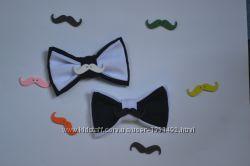 галстук бабочка мальчику девочке с элементом авто или усики