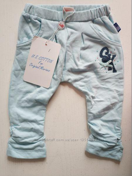 Детские хлопковые штанишки Original Marines на девочку, на 0-3, месяца