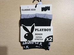 Комплект 2 шт. мужские трусы боксеры французского бренда Playboy оригинал