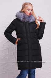 Зимова куртка 188 , темно-синього, чорного кольору , від 48 до 56 розміру