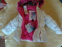 Зимняя, очень теплая куртка на девочку 1-2 года в новом состоянии