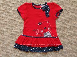 Красивые платья на лето, трикотажные для маленькой принцессы на 0-12 мес.