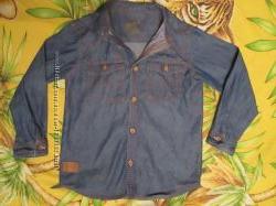 Джинсовая рубашка на 6-7 лет