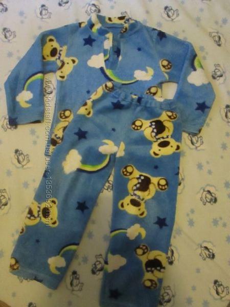Махровая пижама на 3-4 года