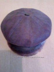 Женская шапка из натуральной кожи