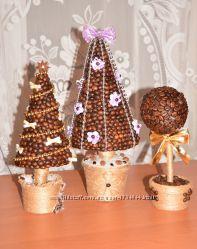 Топиарий Кофейная елка и Дерево счастье