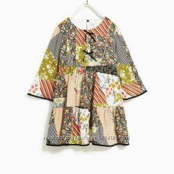 Роскошное платье в стиле пэтчворк от Zara на девочку 8-10 лет. Новое