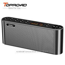 Hi-Fi Bluetooth динамик портативный с микрофоном и FM радио