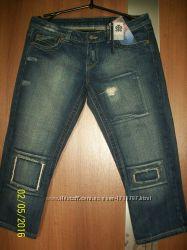 Джинсовые шорты, бриджи Турция 12 euro 40 смотрите замеры