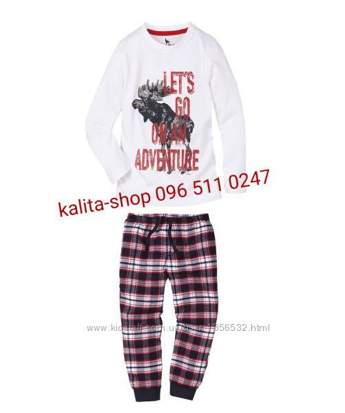 Пижама, штаны байка, хлопок, 86-92, Германия, Lupilu