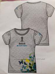 Футболка для девочки, 122-128, Fifa World Cup Brazil 2014