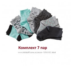 Носки трикотажные, 7 пар в комплекте, 19-22, 23-26, 27-30, Lupilu
