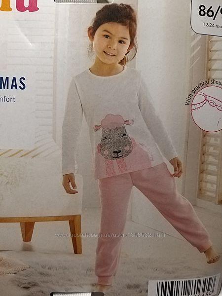 Теплая пижама, трикотаж-флис, 86-92, Германия