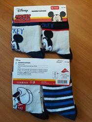 Носки Мickey Mouse, 2 пары в комплекте, 31-34, 35-38, Disney