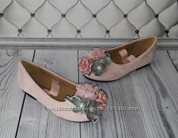 Туфли девочке с цветами