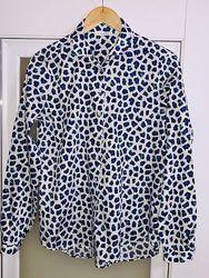 Пятнистая рубашка, стильная современная рубашка, блузка