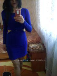 Платье из вырезаными бочками Topshop