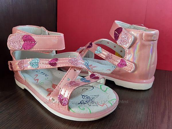 Босоножки для девочки ортопедические сандали 24р