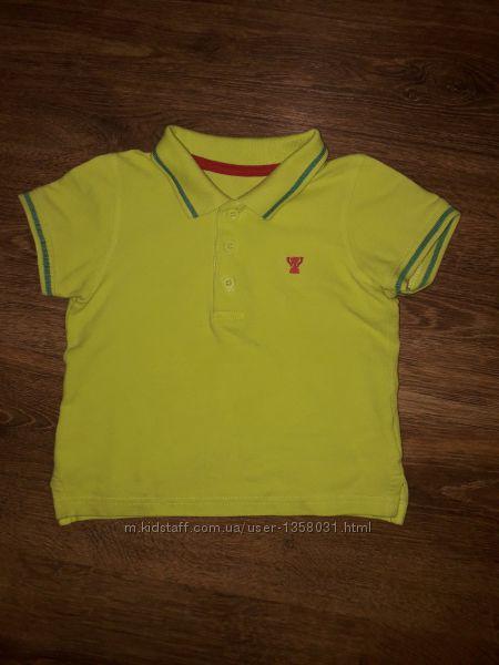 Классная футболка поло на 1, 5 - 2 года 86-92 Mothercare