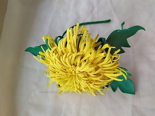 Обруч большой одуванчик, велика кульбаба, цветы из фоамирана