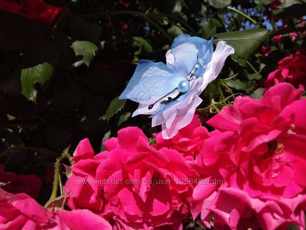 Красивая бабочка,  метелик из шифона и атласных лент
