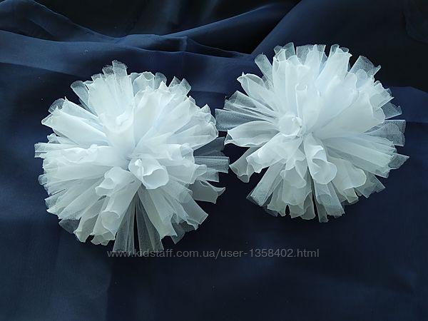 Шикарные банты на 1 сентября 2 шт, школьный бант, цветы из шифона