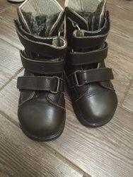 Зимові шкіряні ортопедичні черевики на овчинке ORTOFOOT, кожаные ботинки