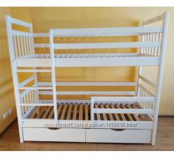Двухъярусная детская кровать Спартак массив дерева с ящиками трансформер