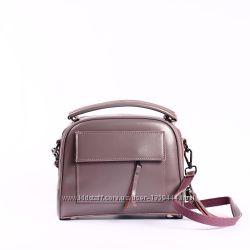 Стильная сумка-саквояж на длинной ручке, натуральная кожа
