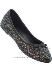 Комфортные балетки туфли-лодочки для девочки от Graceland Германияглиттер
