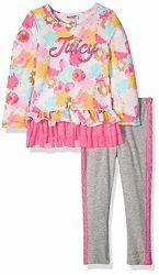 костюм Juicy Couture туника и лосины на девочку 2 и 3 года хлопок